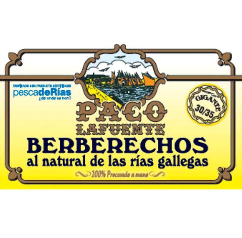 BERBERECHO AL NATURAL 30-35 PACO LA FUENTE 115g Bodega Montferry