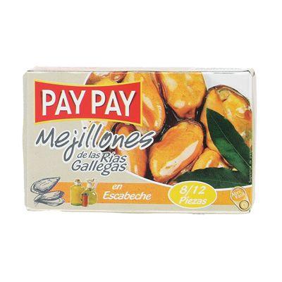 MEJILLONES ESCABECHE PAY-PAY 8-12 115g Bodega Montferry